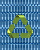 42-19719162 - Recycle Symbol with Plastic Bottles